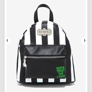 NWT BEETLEJUICE MINI BACKPACK BY LOUNGEFLY